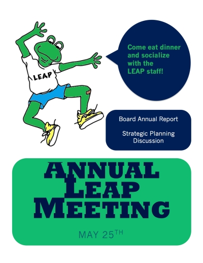 Leap meeting poster