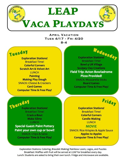 VacaPlaydays Flyer