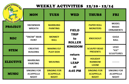 WeeklyActivites12.10