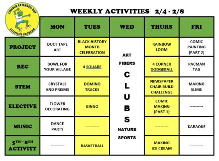 WeeklyActivites2.3