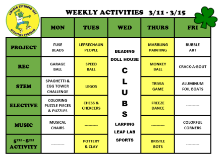WeeklyActivites3.11
