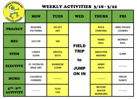 WeeklyActivites3.18