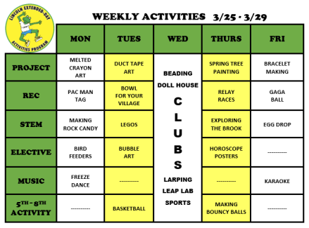 WeeklyActivites3.25