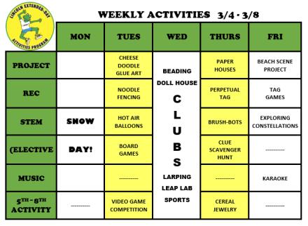 WeeklyActivites3.4