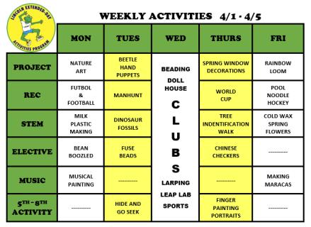 WeeklyActivites4.1
