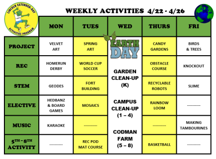 WeeklyActivites4.22
