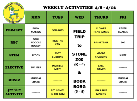 WeeklyActivites4.8