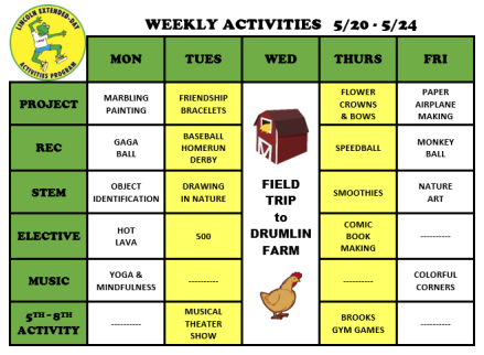 WeeklyActivites5.20