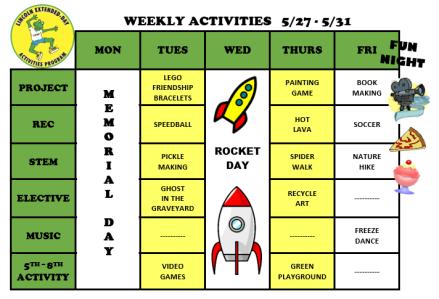 WeeklyActivites5.28