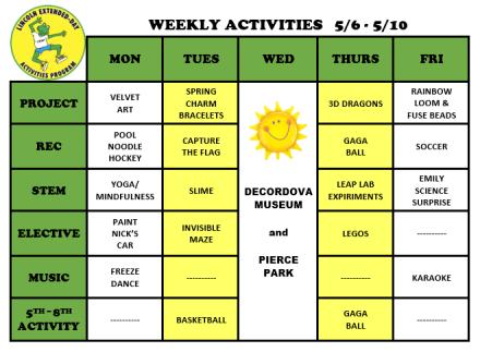WeeklyActivites5.6