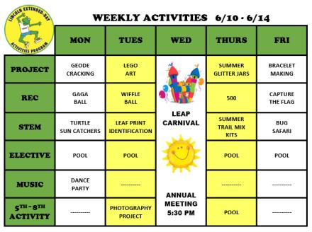 WeeklyActivites6.10
