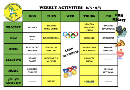 WeeklyActivites6.3