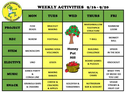 WeeklyActivites9.16.19