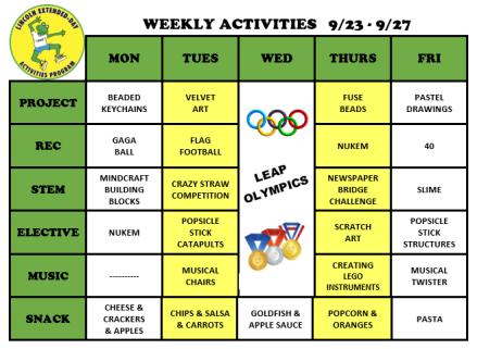 WeeklyActivites9.23.19