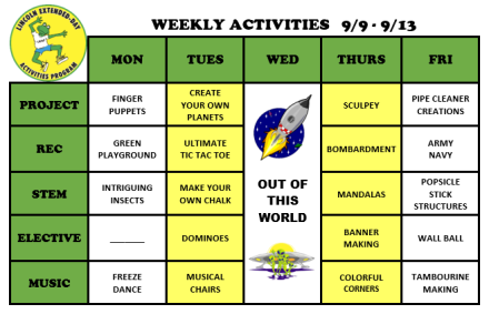 WeeklyActivites9.9.19