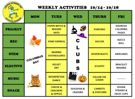 WeeklyActivites10.14.19