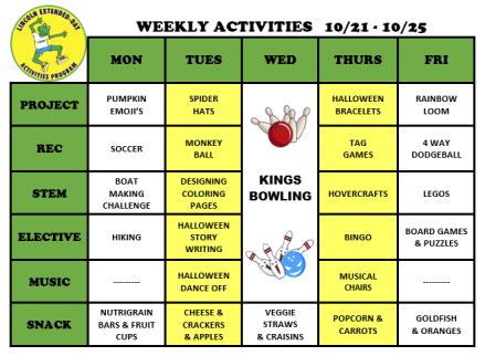 WeeklyActivites10.21.19
