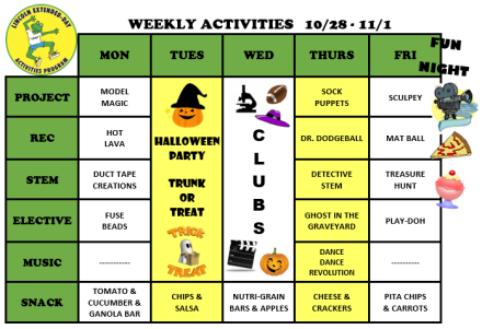 WeeklyActivites10.28.19