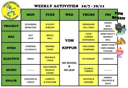 WeeklyActivites10.7.19