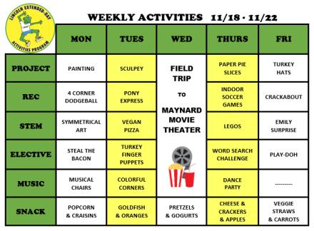 WeeklyActivites11.18.19