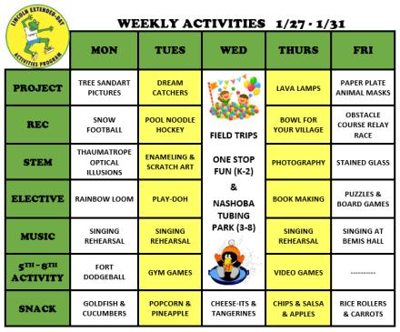 WeeklyActivites1.27.20