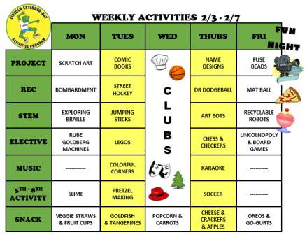 WeeklyActivites2.3.20