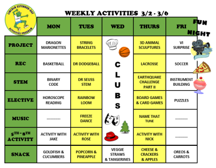 WeeklyActivites3.2.20